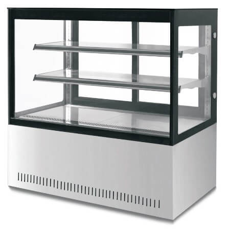 SQUARE GLASS DISPLAY 1500W X D730 X H1200 - cater-care