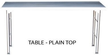 S/Steel 1050mm Plain top Table excluding splashback 0.7mm Grade 430 - cater-care