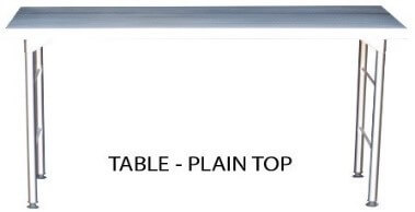 S/Steel 1840mm Plain top Table excluding splashback 0.7mm Grade 430 - cater-care