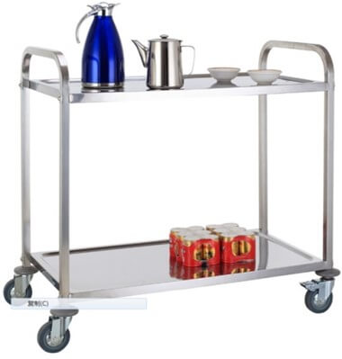 2 TIER TEA TROLLEY - cater-care