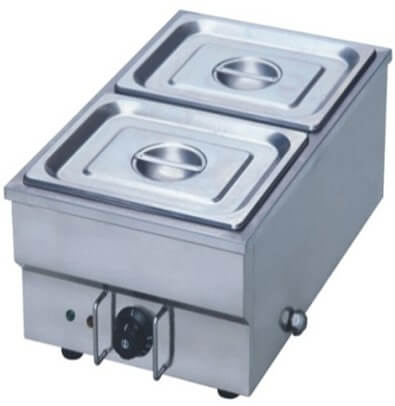 TABLE MODEL BAIN MARIE - INCLUDES INSERTS + LIDS - SINGLE 2 X 1/2 - cater-care