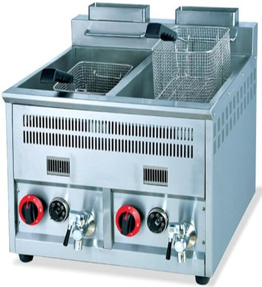 FRYER TABLE TOP 2X 5.5LT GAS - cater-care