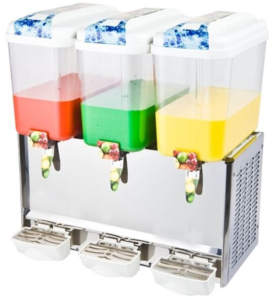 JUICE DISPENSER TRIPLE REFRIGERATED 15LT - cater-care