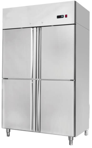 1314X845X2130 S/STEEL DOUBLE DOOR UPRIGHT FREEZER GN 4 X 1/2 DOORS - cater-care