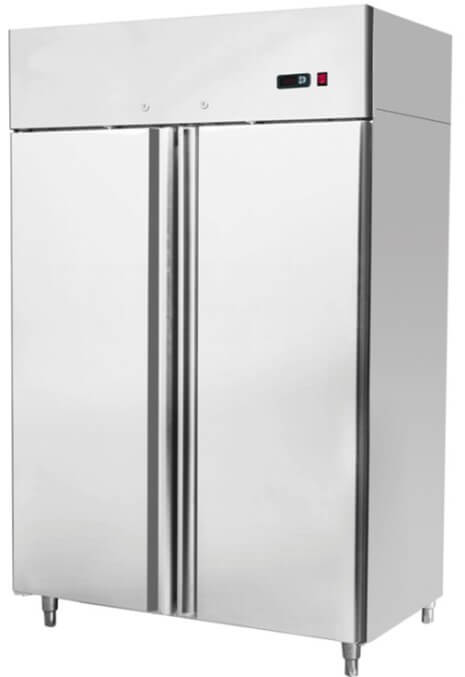 1314X845X2130 S/STEEL DOUBLE DOOR GN UPRIGHT REFRIGERATOR - cater-care