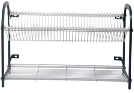 CROCKERY RACK 800 WALL MOUNT 38 PLATES + CUP RACK - cater-care