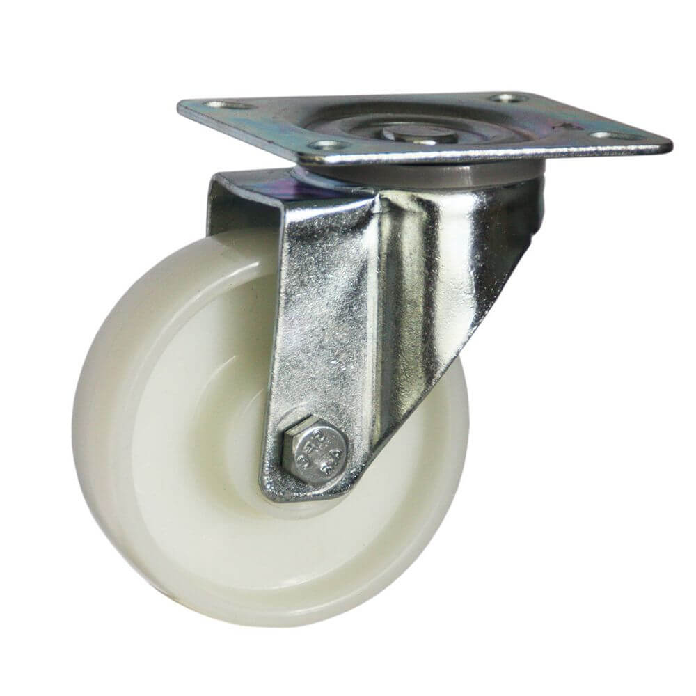 Swivel castor for Chrome  & Epoxy shelving - cater-care