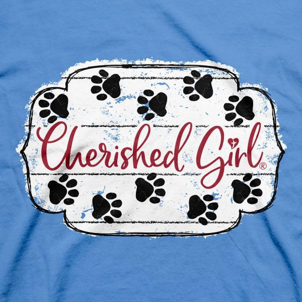 """Paws & Pray"" Womens T-Shirt by Cherished Girl"