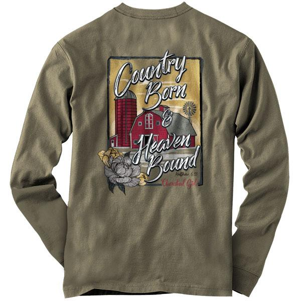 """Country Barn"" Womens T-Shirt by Cherished Girl"