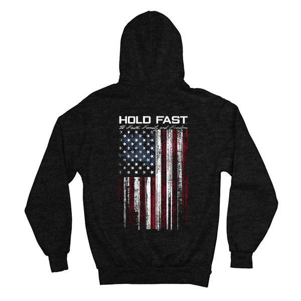 """Hold Fast Flag"" Mens Hooded Sweatshirt by HOLD FAST"
