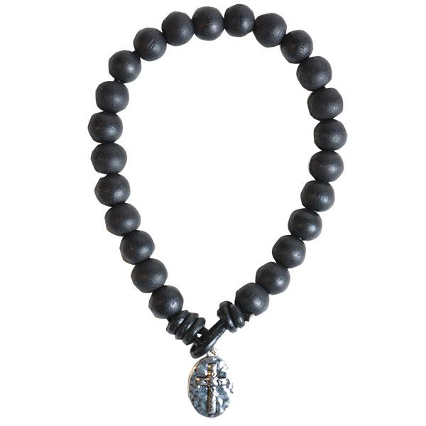 black-bead-with-cross-mens-religious-bracelet-faith-gear