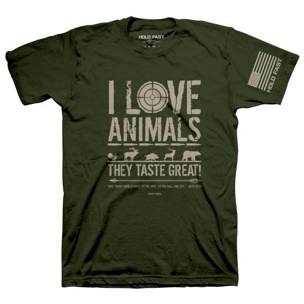 eating-animals--religious-t-shirt-hold-fast