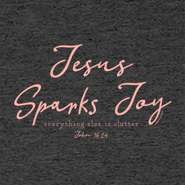 jesus-sparks-joy-romans-15:13--religious-t-shirt-grace-&-truth