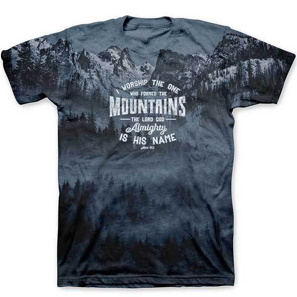 who-made-the-mountains-adult-religious-t-shirt-kerusso