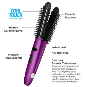 INSTYLER IONIC STYLER PRO IONIC HOT BRUSH AND CERAMIC FLAT IRON
