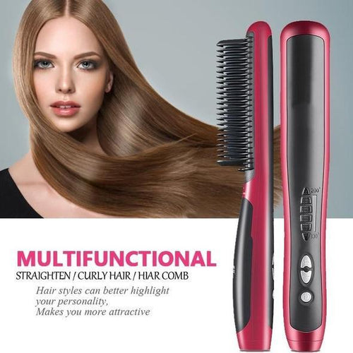 Authentic Multi-Functional Hair Straightening Brush