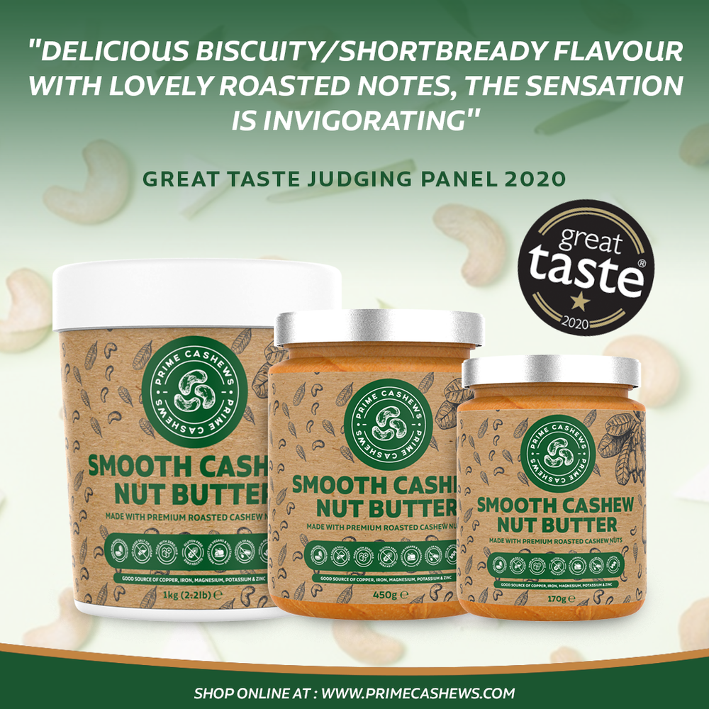 Smooth Cashew Nut Butter 1kg Tub