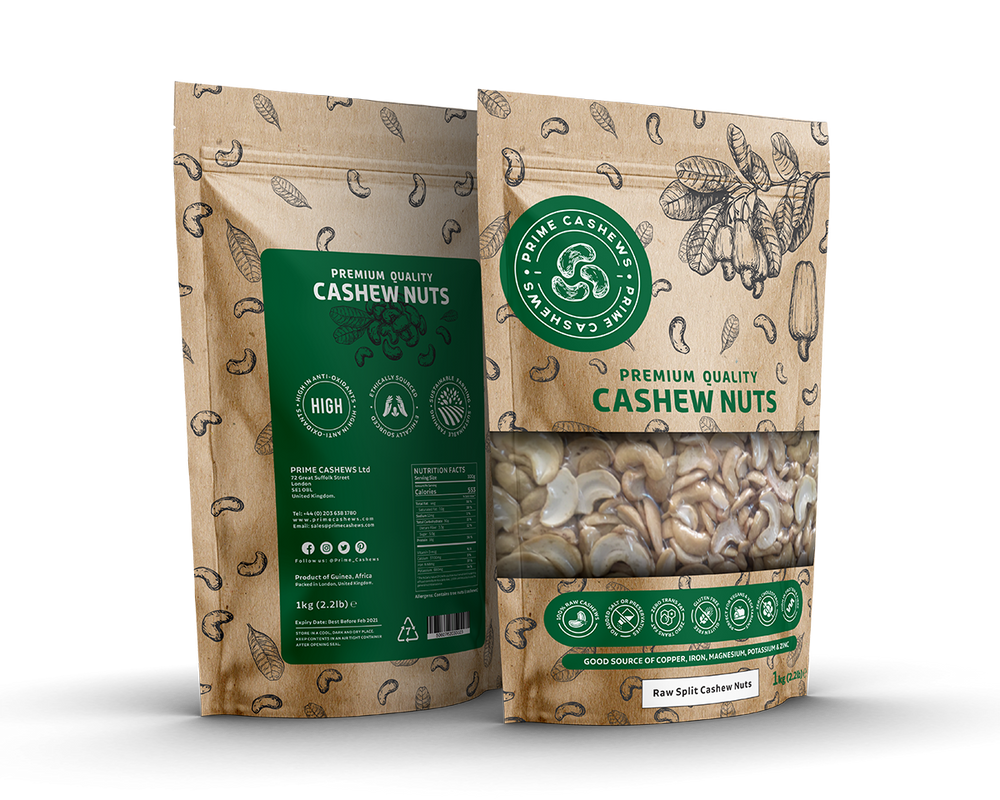 Split Natural Cashews Nuts (1kg)