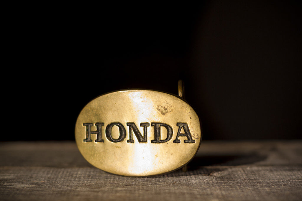 Round Honda Belt Buckle