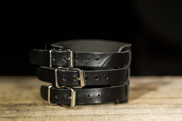 Triple Strap Leather Bracelet