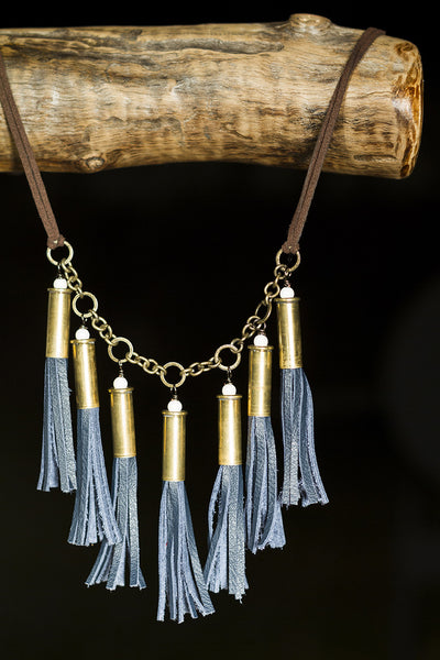 7 Shell Leather Necklace