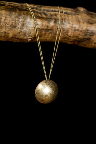 Brass Dome Necklace