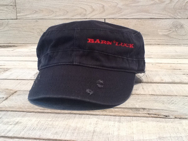 Distressed Hat - Black