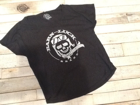 Barn Luck T shirt distressed