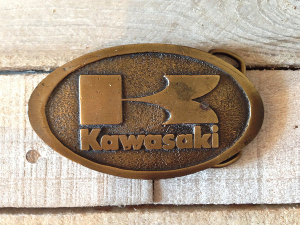 """K"" Kawasaki Belt Buckle"