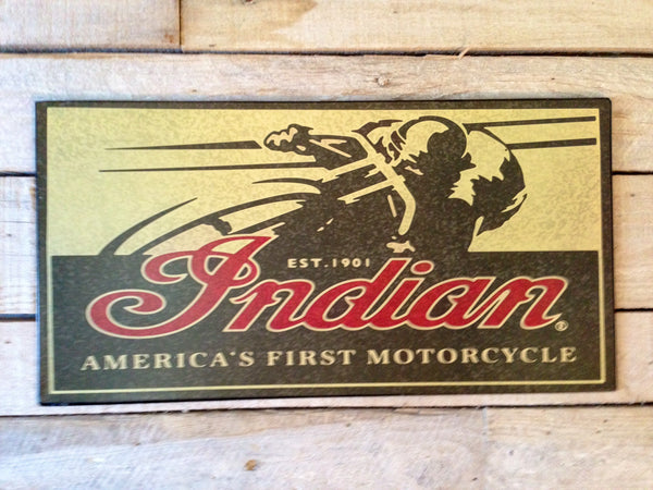 Indian Motorcycle Vintage Sign