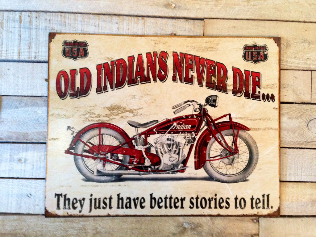 Old Indian Vintage Sign