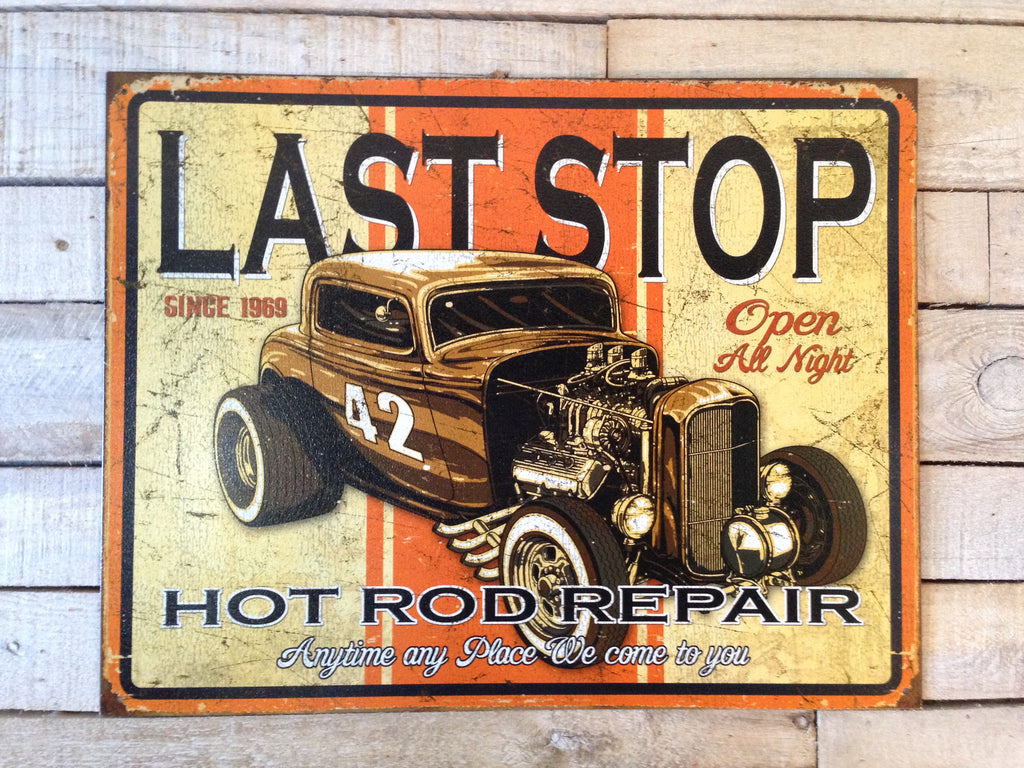 Hot Rod Repair Vintage Sign