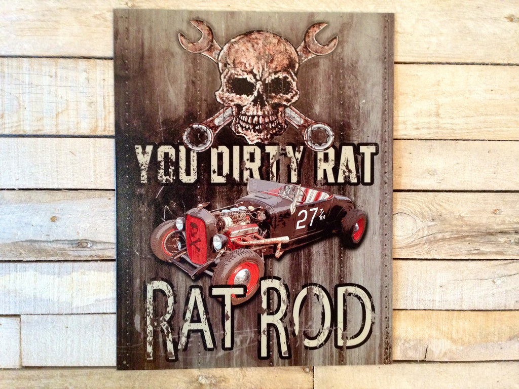 Road Rat Vintage Sign