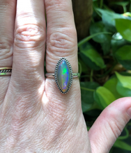 Load image into Gallery viewer, Ethiopian Opal Ring sz 7.5