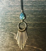 Load image into Gallery viewer, Labradorite Fringe Necklace