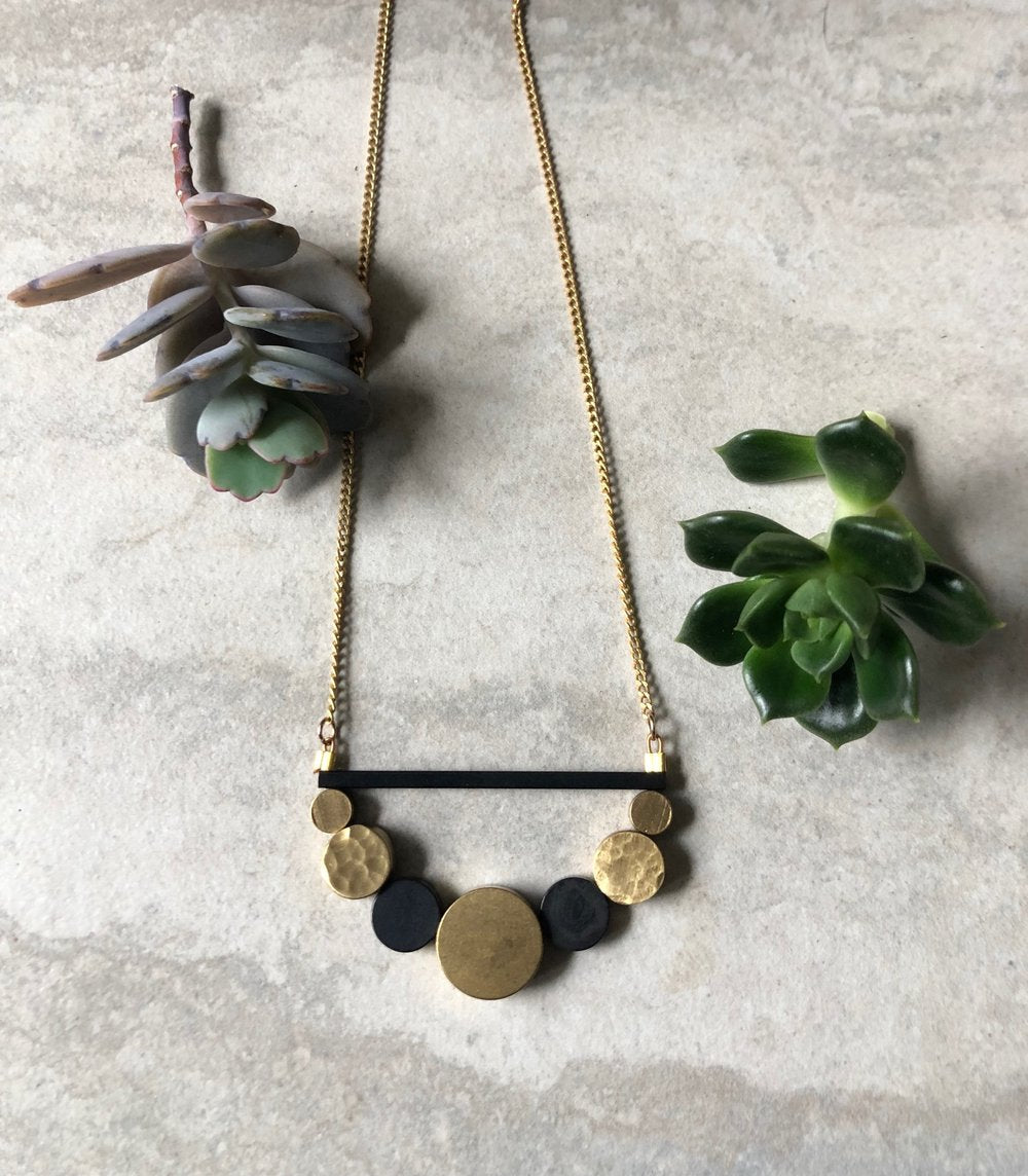 Brass Circles Necklace