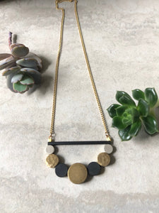 Brass Circles Necklace 2