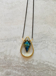Labradorite Frame Necklace