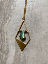 Load image into Gallery viewer, Labradorite Geometric Diamond