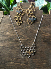 Load image into Gallery viewer, Honeybee Necklace (brass bee)