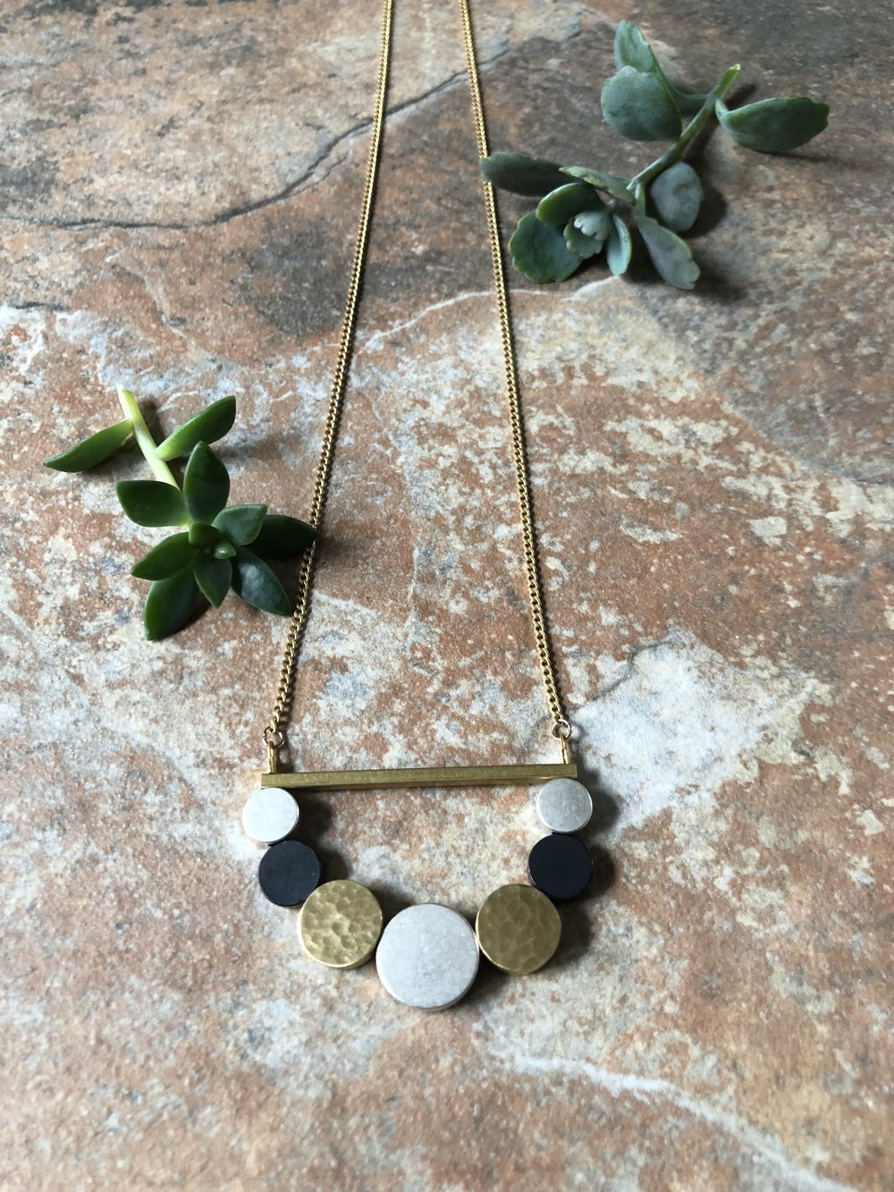 Mixed Metal Loop Necklace 2