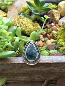 Indonesian Opalized Wood Ring sz 8.25