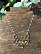 Load image into Gallery viewer, Honeybee Necklace (matte gold bee)