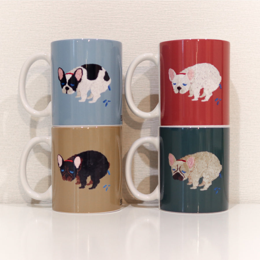 F/B POOPING MUG【FRENCH BULLDOG LIFE × PEGION】