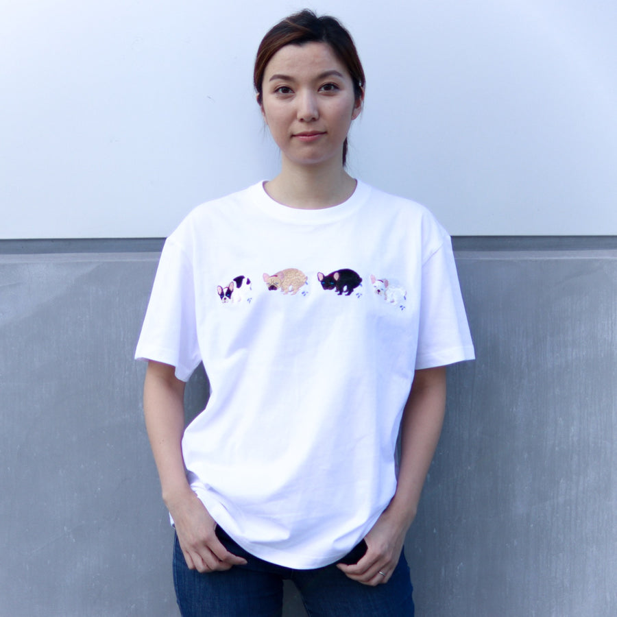 <数量限定>F/B POOPING TEE【FRENCH BULLDOG LIFE × PEGION】