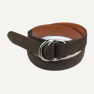 Brown Suede O-Ring Belt
