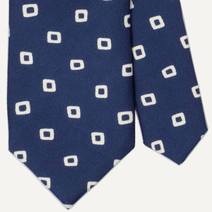 Navy with White Mod Block Tie