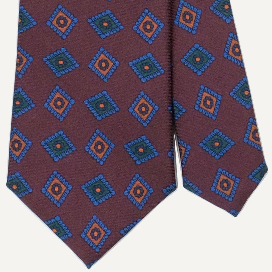 Brown Medallion Ancient Madder Tie