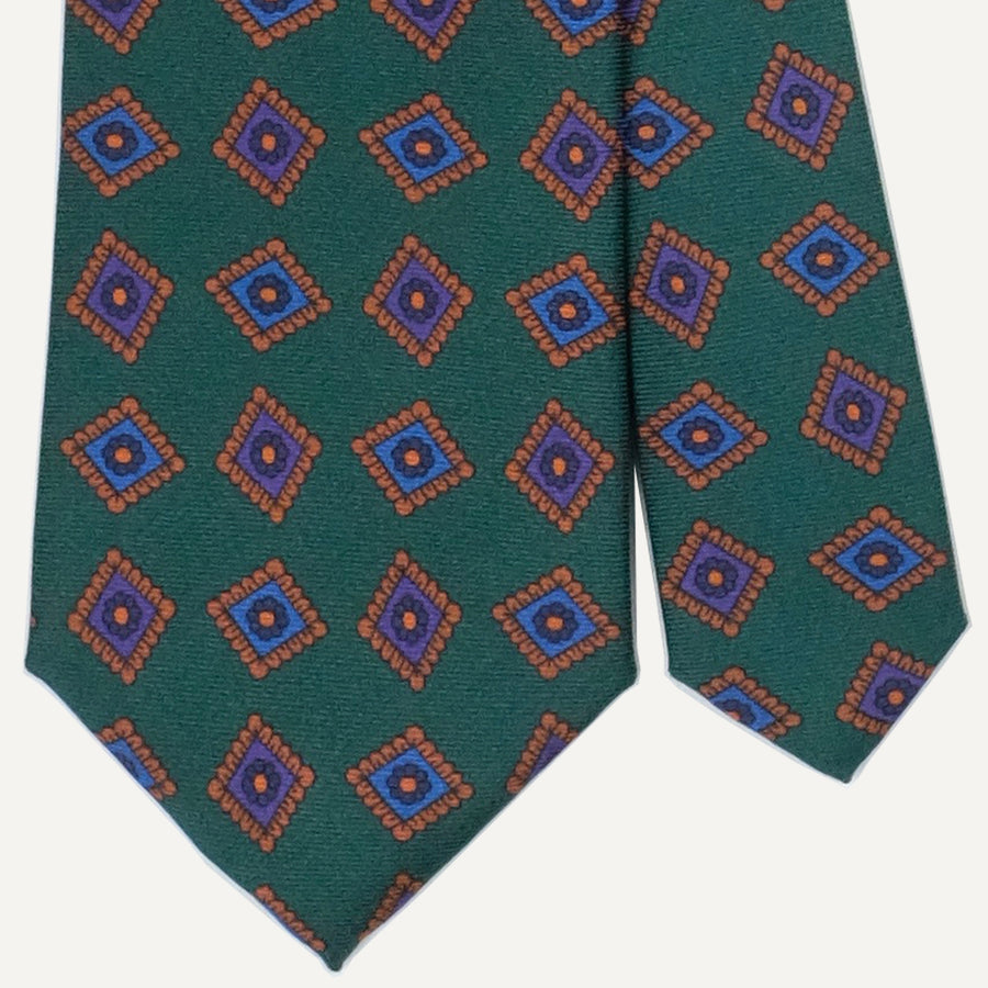 Green Medallion Ancient Madder Tie