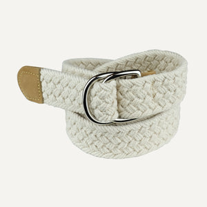 Natural Woven Cotton Belt